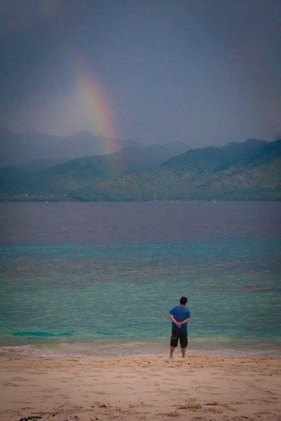 Rainbow at Gili Meno Beach